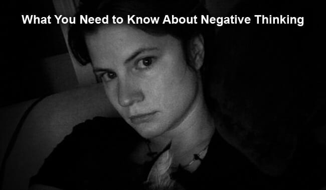negative thinking and overcoming it